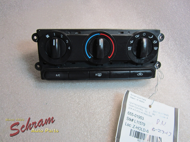 2007 Ford Mustang Temperature Control Head Unit