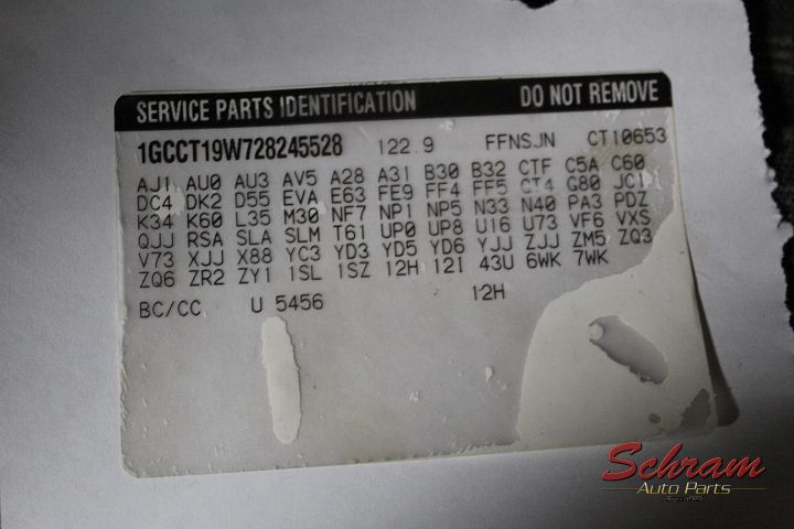2002 Chevrolet S10 Pickup Electronic Chassi Control Module